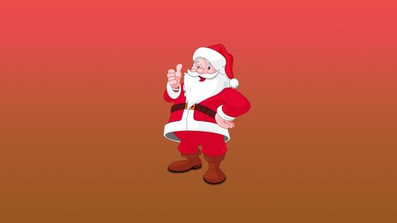 Santa Claus on gradient background wallpaper