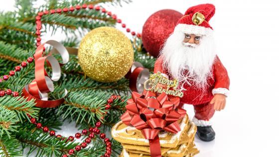 Santa Claus figure wallpaper