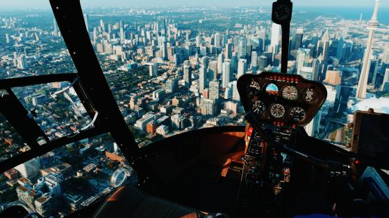 View of Toronto from a Helicopter wallpaper