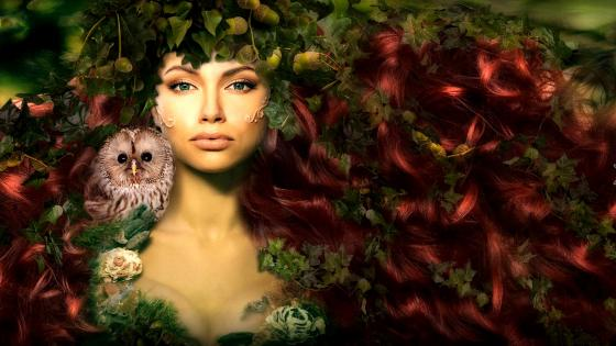 Forest witch - Fantasy Art wallpaper