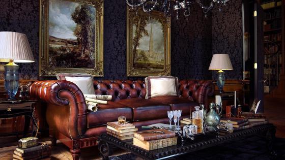 Leather Sofa wallpaper