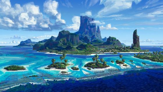 Tropical landscape - Fantasy art wallpaper