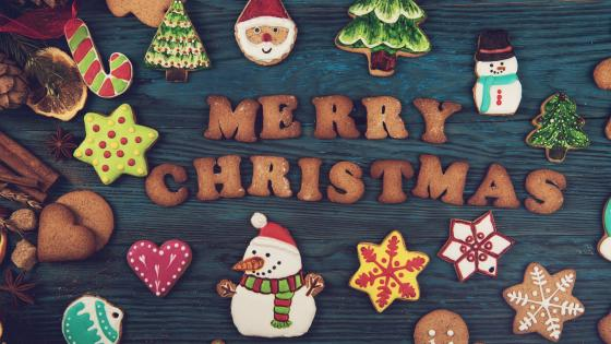 Merry Christmas gingerbread wallpaper