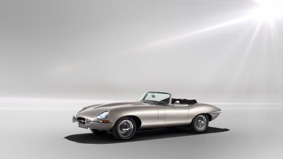 Jaguar E-Type Zero all-electric car wallpaper