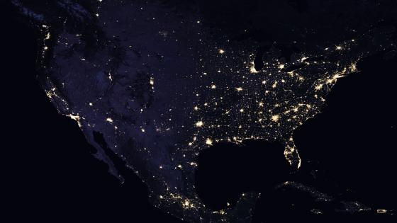 Night Lights Of North America 2016 wallpaper