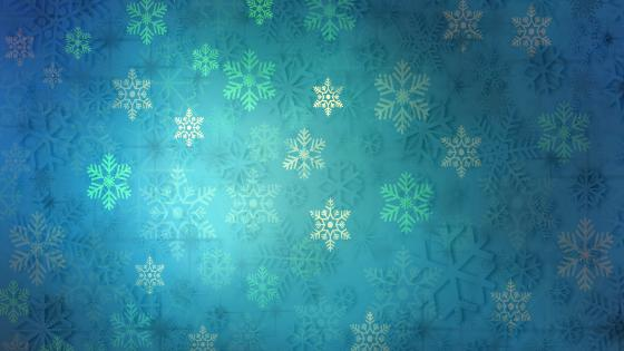 Snowflake pattern wallpaper