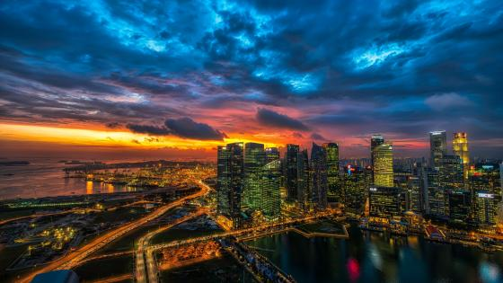 Singapore's skyscrapers wallpaper