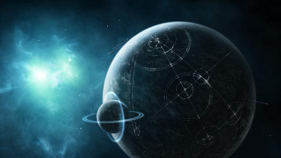 Alien planet with extraterrestrial life wallpaper