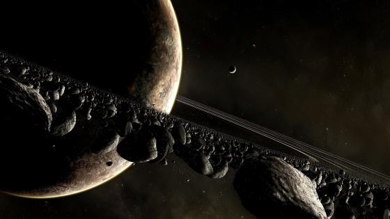 Asteroid ring wallpaper