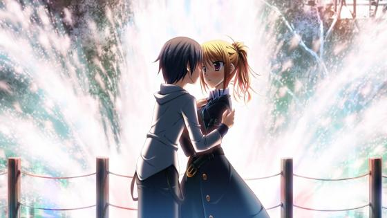 Romantic anime love wallpaper