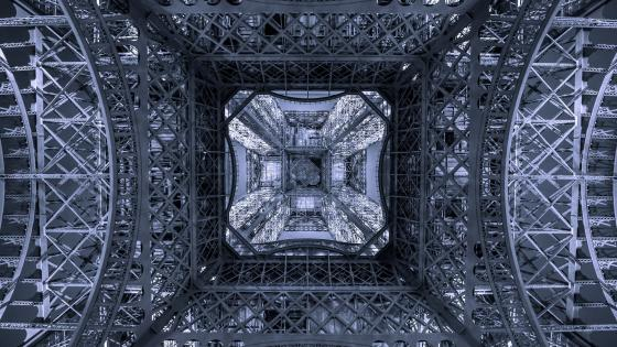 Eiffel Tower bottom view wallpaper