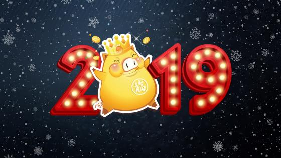 Year of the Pig 2019 - A year of fortune and luck wallpaper