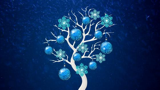 Blue Christmas Tree wallpaper