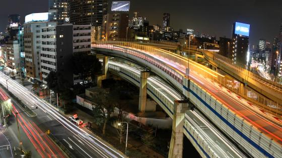 Interchange in Downtown Tokyo wallpaper