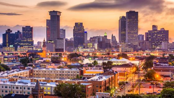 New Orleans at dawn wallpaper