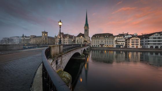 Münsterbrücke, Zürich wallpaper