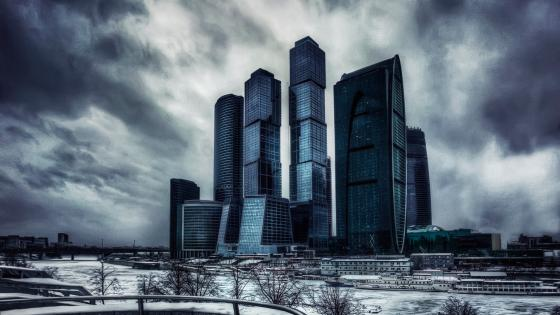 Moscow's skyscrapers wallpaper
