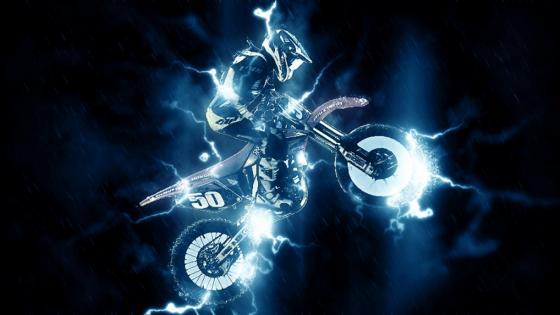 Spectacular motocross rider wallpaper
