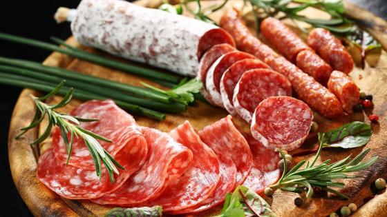Italian salami wallpaper