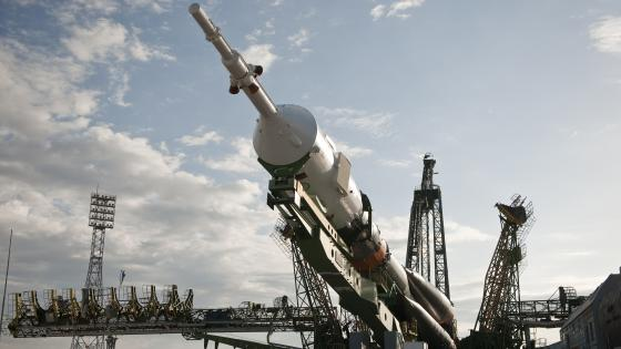 The Soyuz TMA-01M at the Launch Pad wallpaper