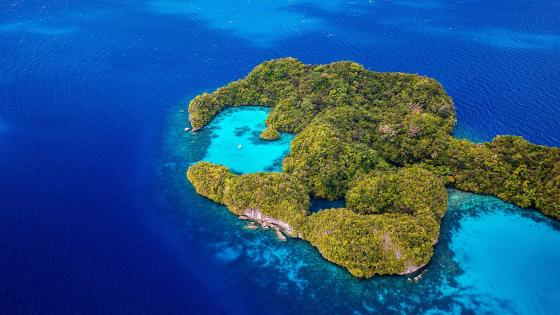 Palau Islands from above wallpaper