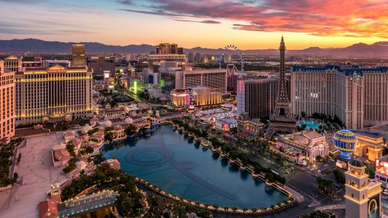 Las Vegas Strip in Paradise wallpaper