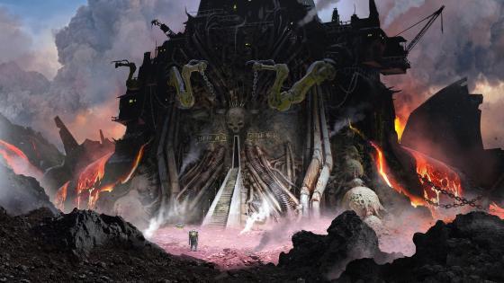 Demons castle wallpaper
