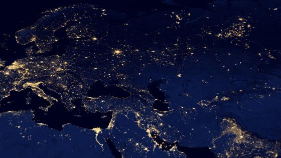 Night Lights of Europe, Western & Central Asia 2012 wallpaper