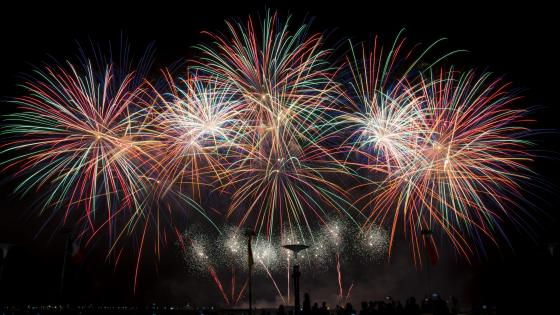 Colorful Fireworks in France wallpaper