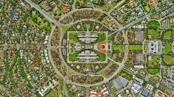 Australian Parliament from Above wallpaper