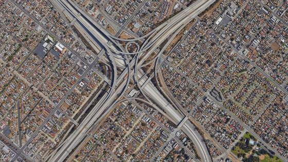Aerial View of a Stack Interchange wallpaper