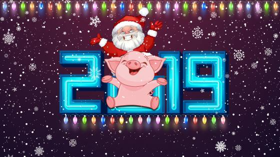 The year of pig 2019 wallpaper