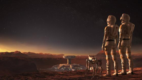 Colonization of Mars Sci-fi art wallpaper