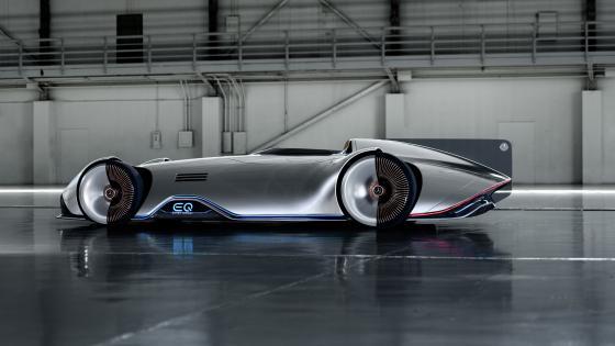 Mercedes Benz Vision EQ Silver Arrow concept car wallpaper