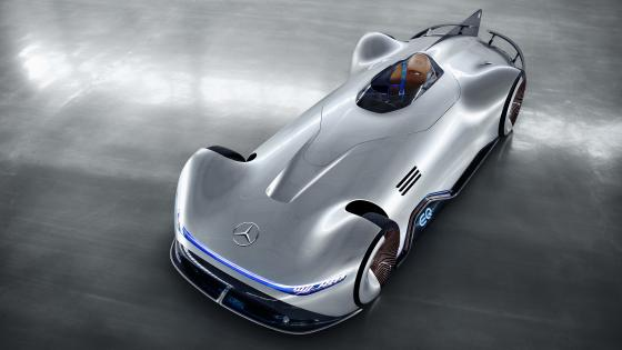 Mercedes Benz Vision EQ Silver Arrow from above wallpaper