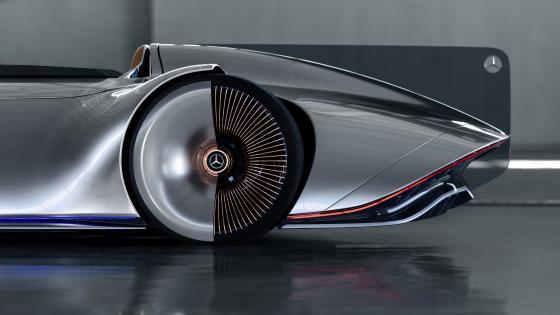 Mercedes-Benz Vision EQ Silver Arrow rear wheel wallpaper