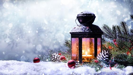 Christmas lantern wallpaper