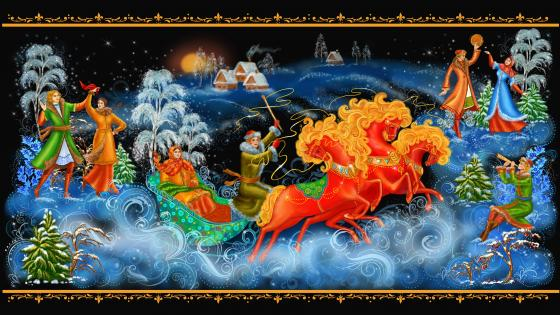Russian painting art wallpaper