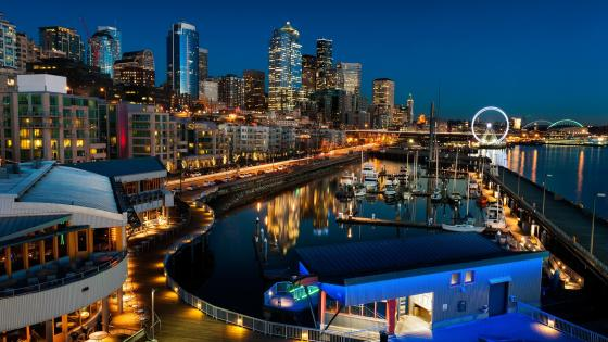 Seattle waterfront wallpaper