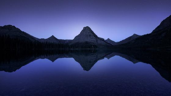 Glacier National Park, Two Medicine Lake with Sinopah Mountain wallpaper