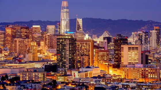 San Francisco city lights wallpaper