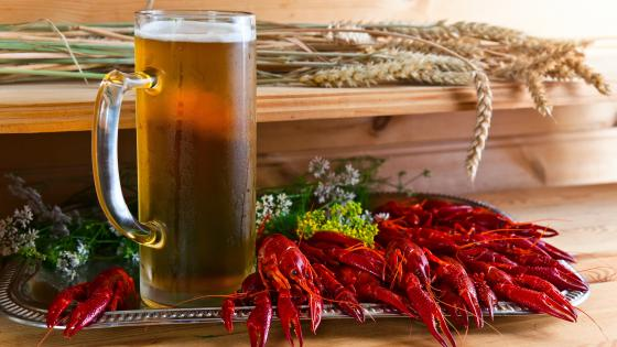 Crawfish with beer wallpaper