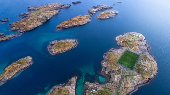 Henningsvær Football Stadium (Norway) wallpaper