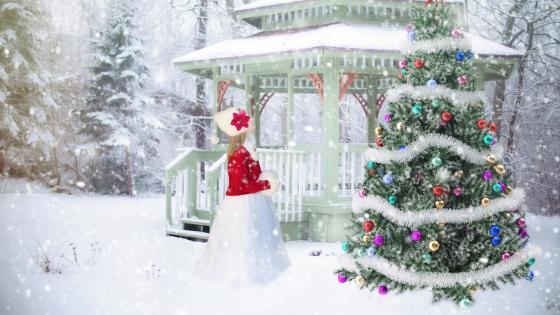 White Christmas wallpaper