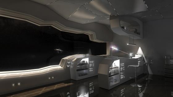 Starship interior wallpaper