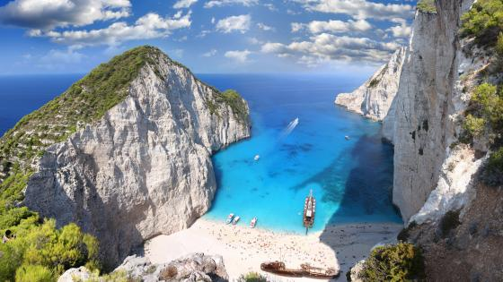 Shipwreck Beach (Navagio Bay) wallpaper