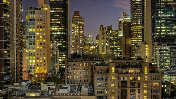 Chicago city lights wallpaper