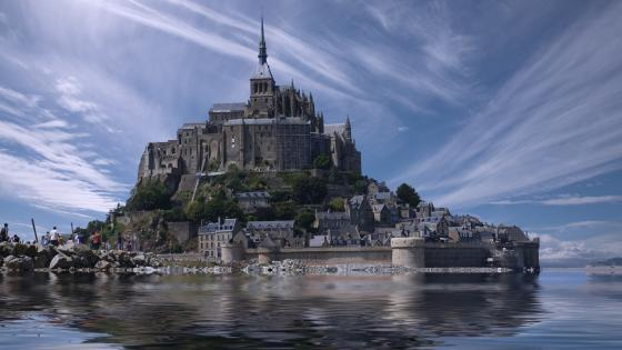 Mont Saint-Michel Monastery wallpaper