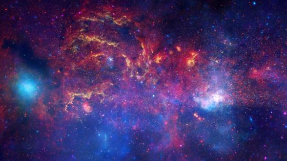 Hubble & Great Observatories Examine the Galactic Centre Region wallpaper