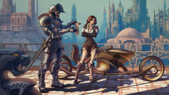 Cyberpunk elf wallpaper